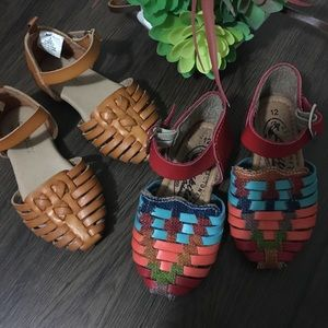 Mexican leather sandals bundle for kids